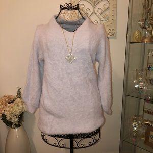 Sweaters - Mink V-Neck Sweater